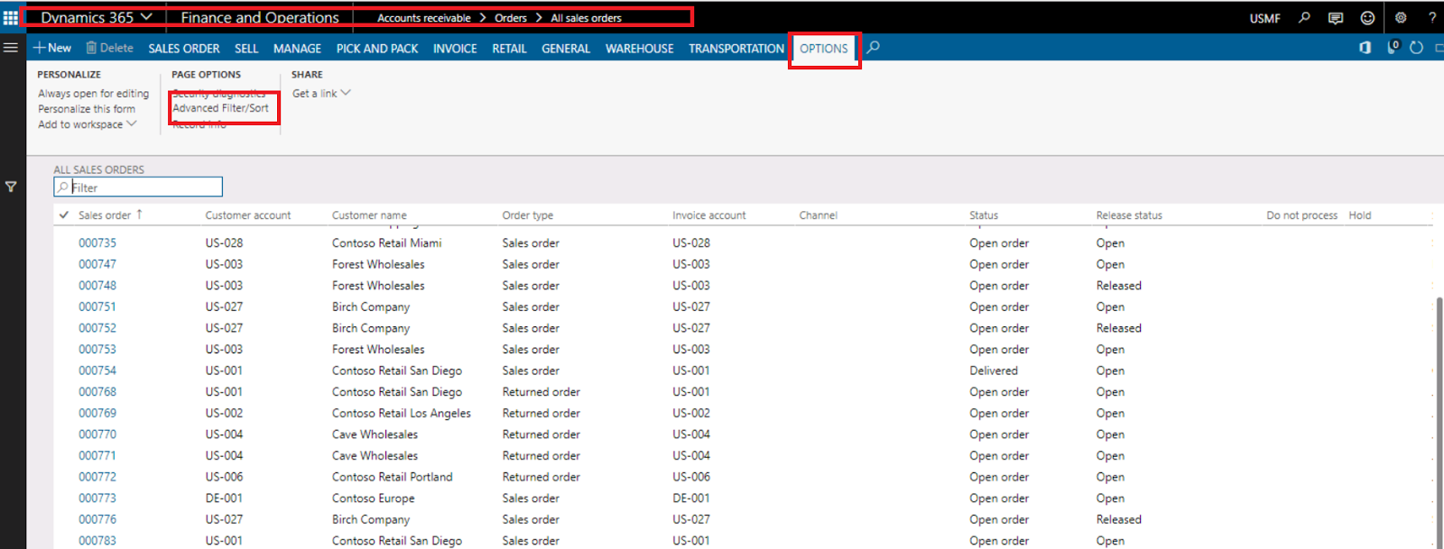 How to save filters as a fast inquires in Dynamics 365