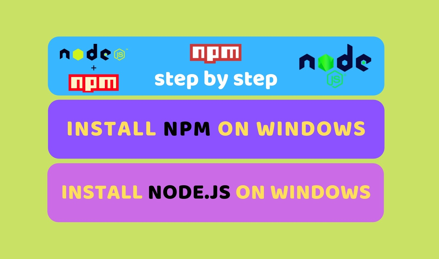 n windows npm