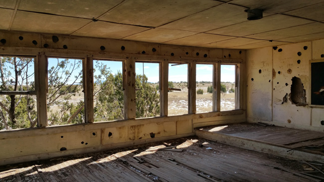 Abandoned Schoolhouse in Mountainair, New Mexico