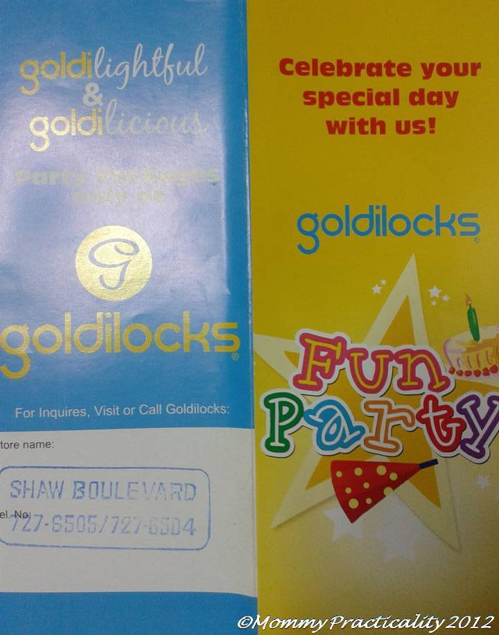 Goldilocks Cake City Kiddie Party Packages Mommy Practicality