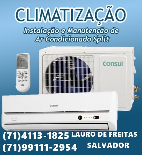 Instalação de ar-condicionado split em Lauro de Freita-BA 71-99111-2954 WHATSAPP