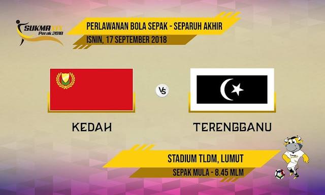Live Streaming Kedah vs Terengganu 17.9.2018 Bolasepak SUKMA