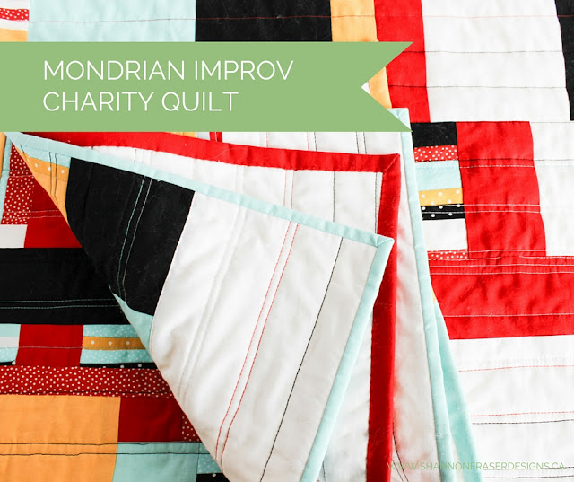 Best of 2016 | Mondrian Quilt | Improv Charity Quilt | Modern Quilting | Shannon Fraser Designs