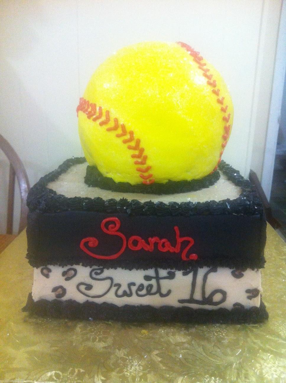 Life And Other Shenanigans Softball Sweet 16 Cake