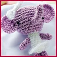 Mini elefante a crochet