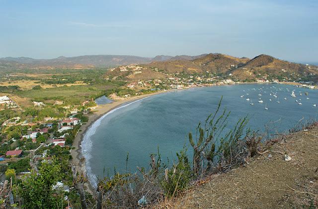 Vue aérienne panoramique de San Juan del Sur