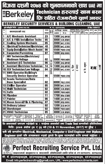 Jobs in UAE for Nepali, Salary Rs 1,68,900