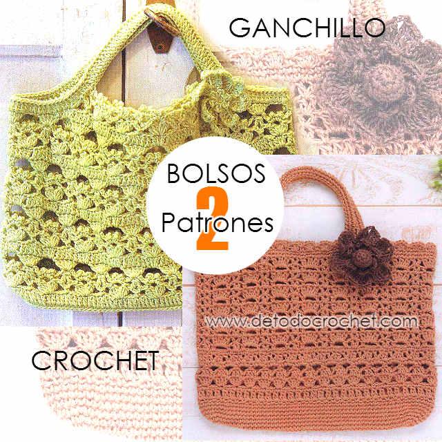Patrones de bolsos crochet todo crochet - Patrones de ganchillo ...