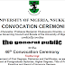 UNN 46th Convocation Programme Of Events Schedule