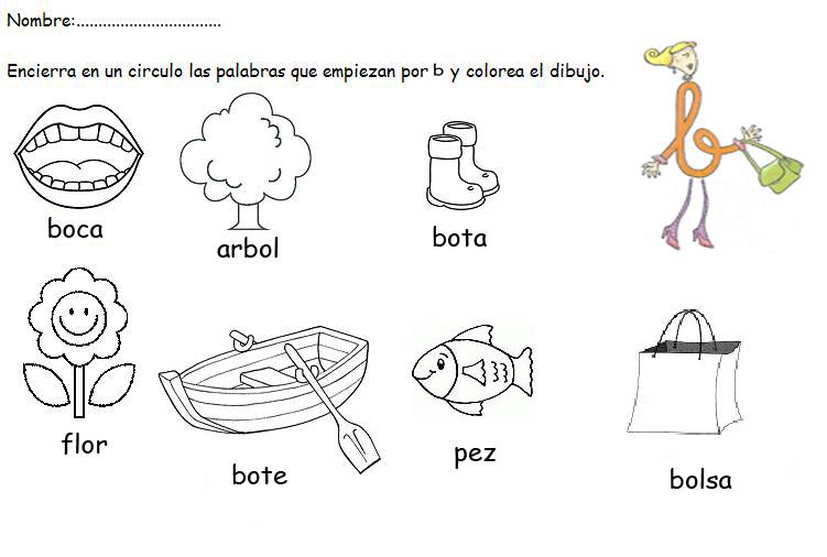 Mi Clase De Infantil Actividad Lectoescritura Letra B