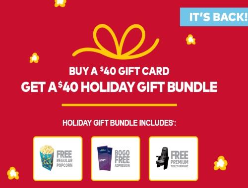 Cineplex Holiday Gift Bundles