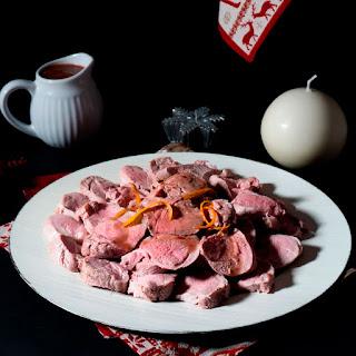 Solomillo de cerdo en salsa de frambuesas thermomix