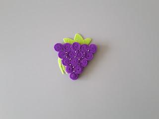 winogrona z filcu