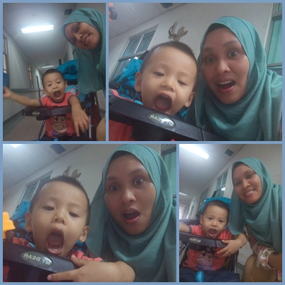 Riang ria Lil' Amin 21 months old clinic time !