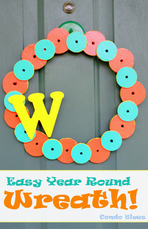 how to make an easy year round wreath