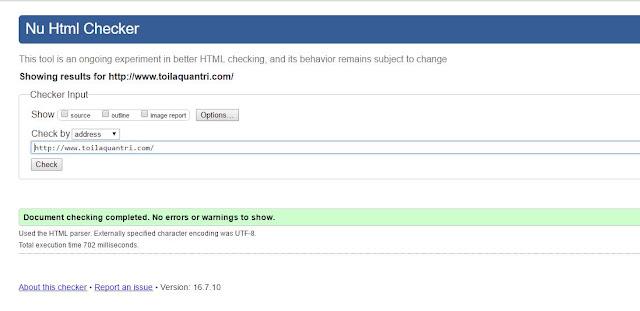 Sửa lỗi HTML5