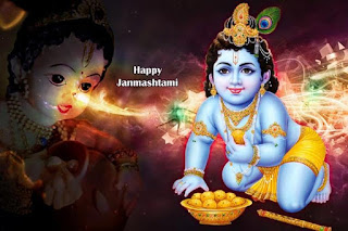 naughty krishna image on janmashtami festival