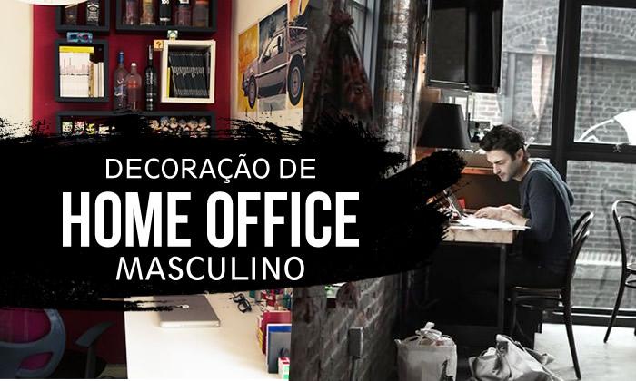 decoração de home office moderno no quarto masculino pequeno