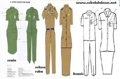 Hasil gambar untuk seragam baru pns guru ptt dan gtt terbaru 2017