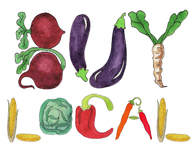 watercolour letters alphabet vegetables theme