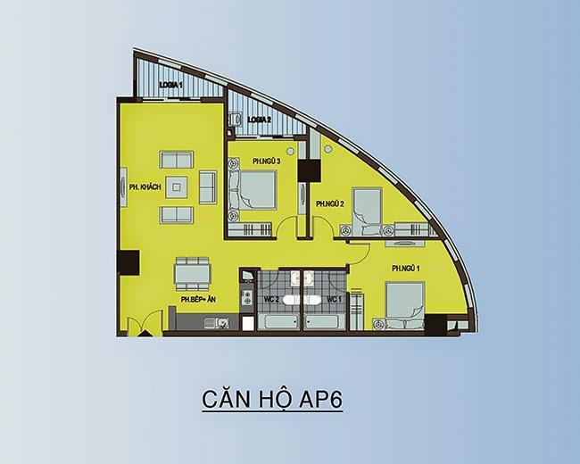 căn hộ AP6 - 108,4m2