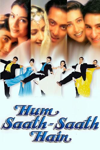 Poster of Hum Saath Saath Hain (1999) Hindi HDRip 160MB –x265 HEVC Mobile Movie Free Download