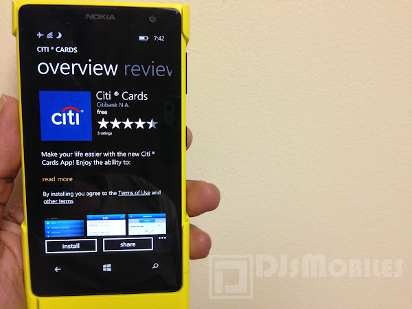 Citi Cards for Windows Phone