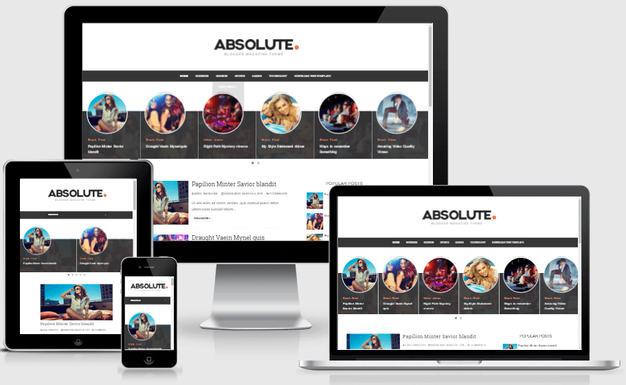 Absolute - Responsive Modern Blogger Template