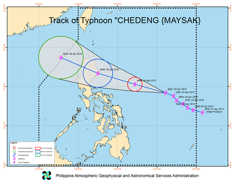 Track Typhoon Chedeng