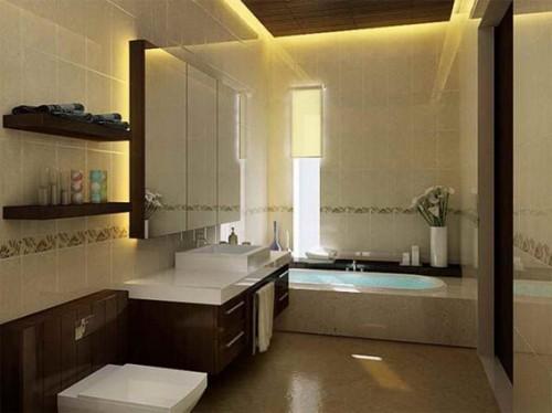 ideas de baño marrón y crema Fotos Ideas Para Decorar Casas