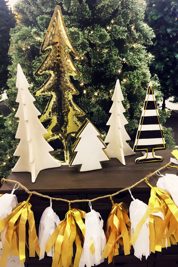 Seasonal style my modern glam christmas decor wish list for Modern gold christmas tree