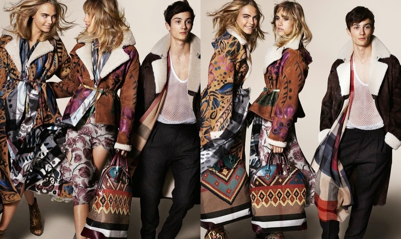 Suki Waterhouse Malaika Firth And Cara Delevingne Star For The Burberry Fall Winter 2014 Campaign