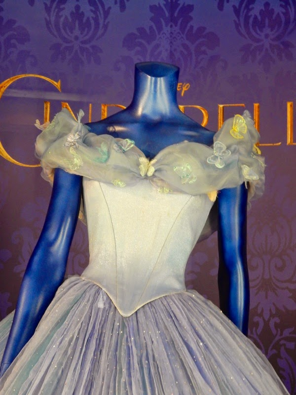Cinderella ball gown costume detail