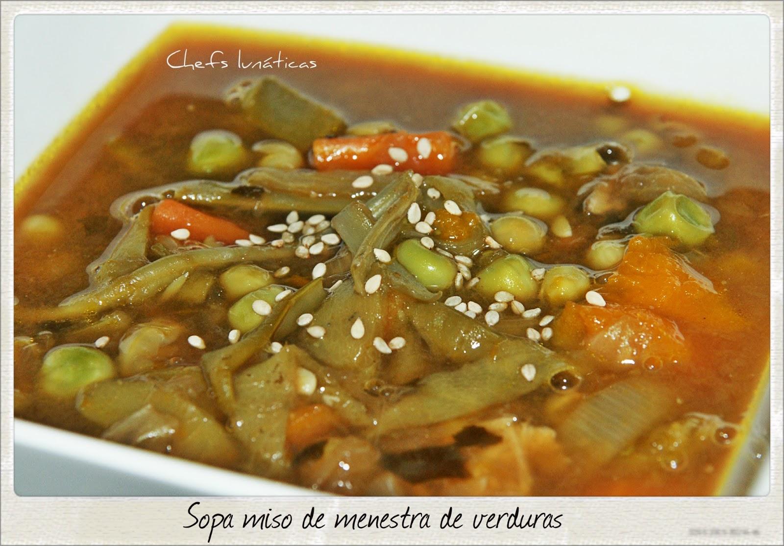 Chefs Lunáticas Sopa Miso De Menestra De Verduras