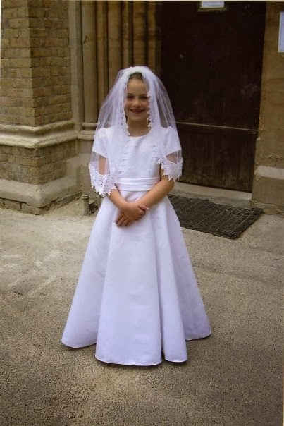 My Eldest Daughter Marie Who Made Her First Holy Communion On The Feast Of Corpus Christi 2005 She Wore A Spanish Mantilla Which Had Lace Edging