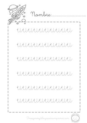 Caligrafia de vocales preescolar letra O