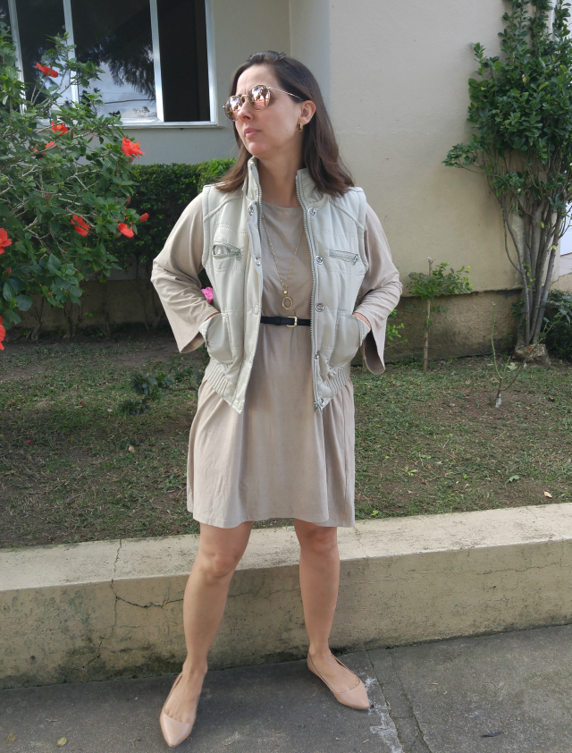 Vestido bege
