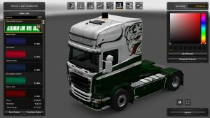 Scania RJL Green & White Vabis Skin