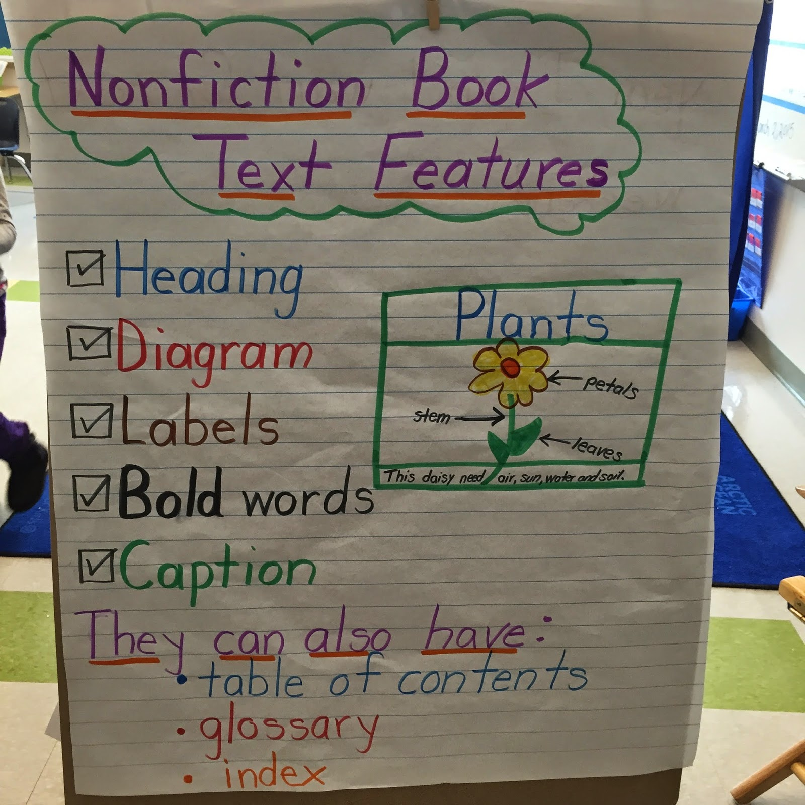 We Talked About What Each Feature Meant And They Identified Whether Their Text Had These Nonfiction Features After Recess Day Have A Silent