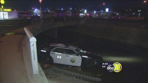 fresno patrol police car crash canal blackstone avenue