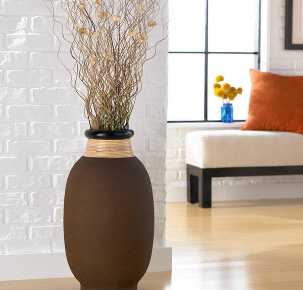 Permalink to 10 Contoh Terbaik Vas Bunga Lantai di Ruang Tamu Kita