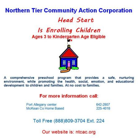 Head Start Is Enrolling Children.