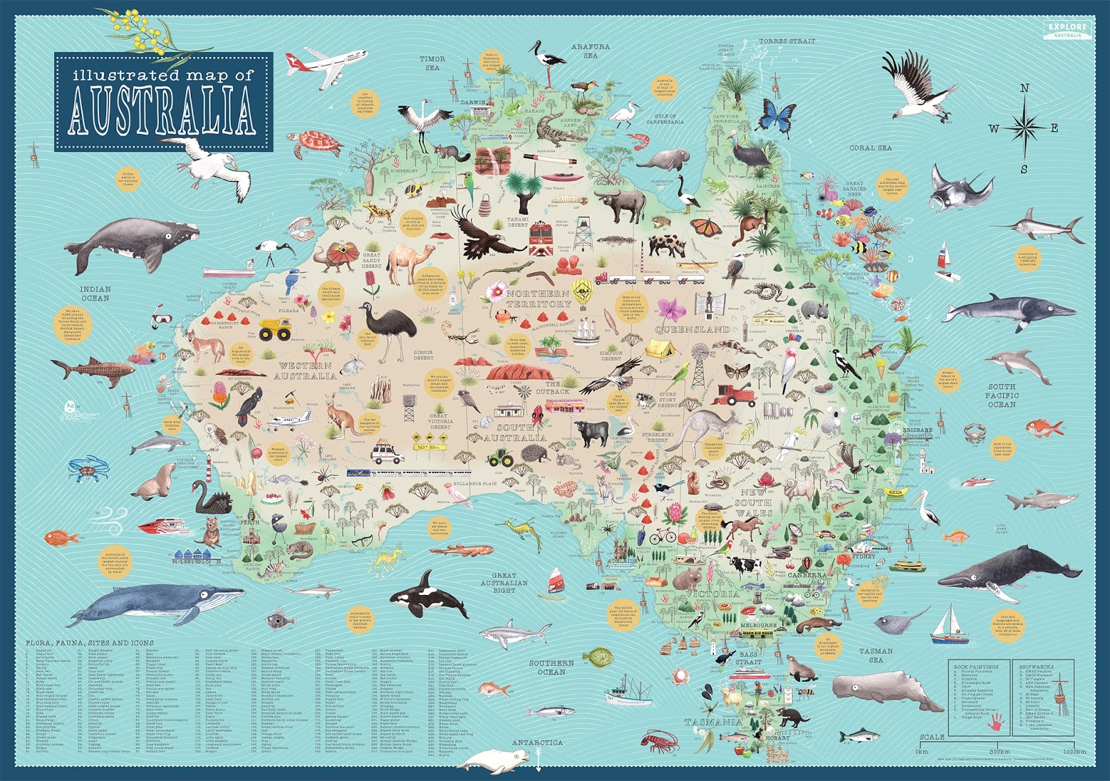 Kids Book Review Review Australia Illustrated Map