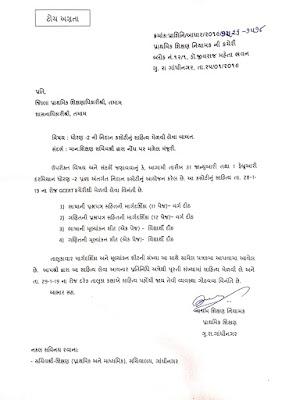 Pragna Std 2 Mulyankan Latest Paripatr date 25-1-2019 - news india