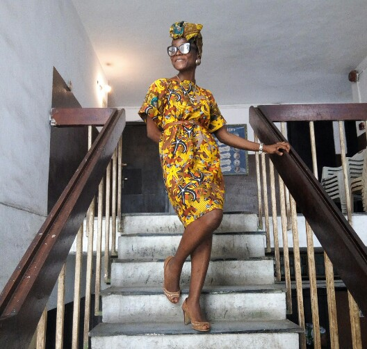 ankara shift dress