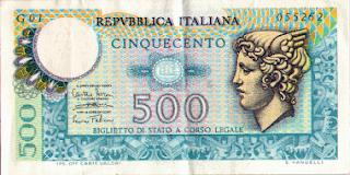 500 lire mercurio