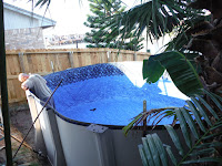 Semi Above Ground Pool - Liner installation