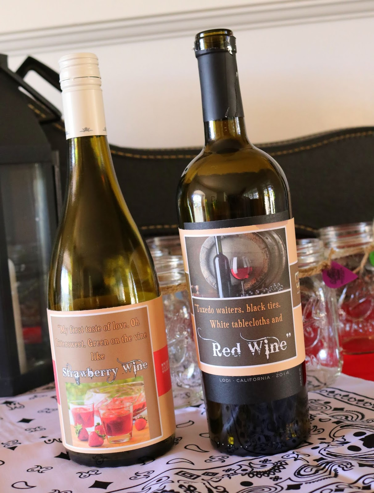 I Created My Wine Labels Using References To Popular Songs For The Red Wine It Was Chris Youngs Gettin You Home