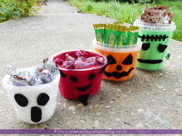 Wool Woven Candy Pots | The Purple Pumpkin Blog