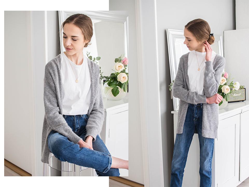 Classic jeans and white t-shirt outfit - Klassinen farkut ja valkoinen t-paita asukokonaisuus
